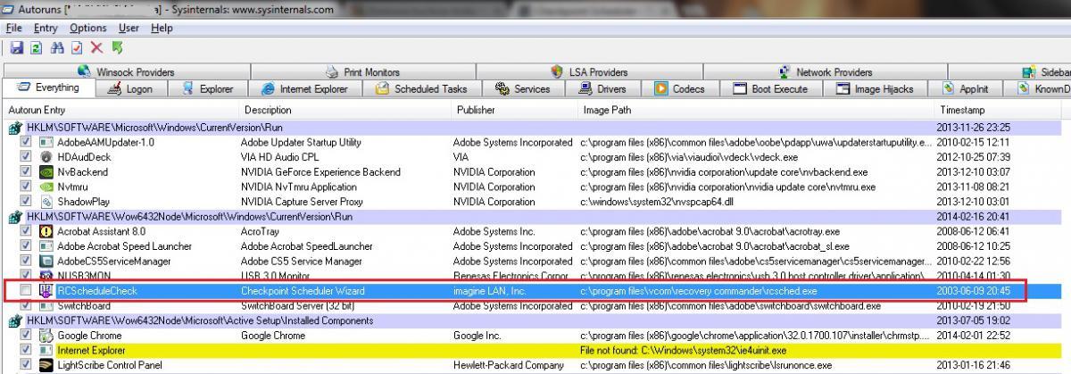 checkpoint scheduler task scheduler is not running windows 7